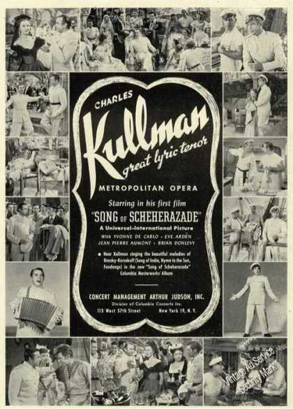 Charles Kullman Photos Opera Booking (1947)
