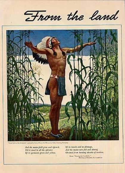 Niblets Corn 2 Page Ad N.c. Wyeth Art (1942)