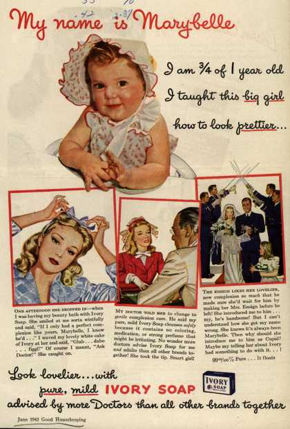 Procter & Gamble Co.'s Ivory Soap – My name is Marybelle (1943)