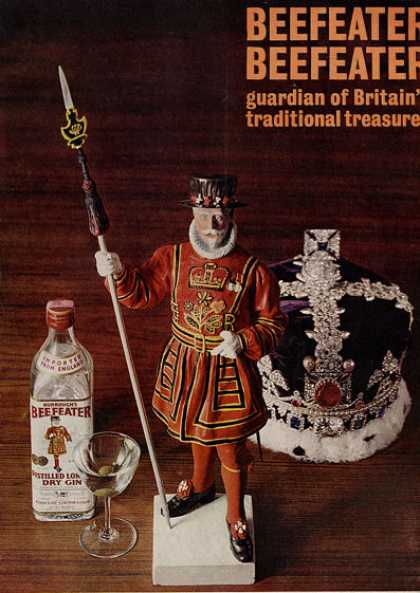 Burroughs Beefeater's Dry Gin Crown Guard (1960)