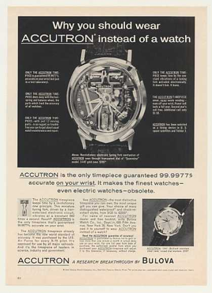 Bulova Accutron Spaceview 214 Watches (1963)