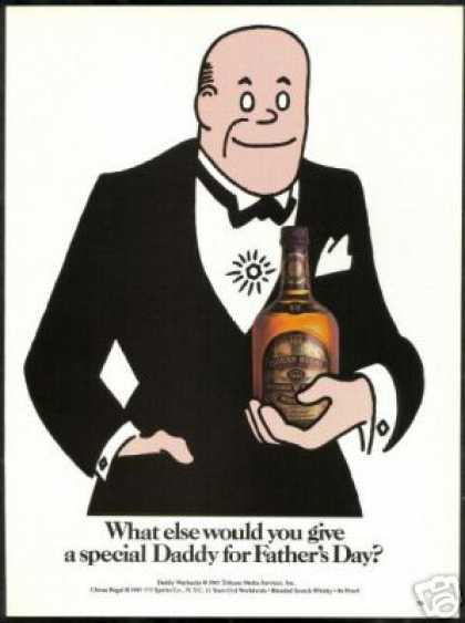 Daddy Warbucks Chivas Regal Scotch (1985)