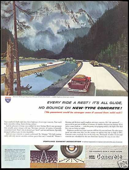 Portland Cement I-90 Highway Snoqualmie Pass (1960)