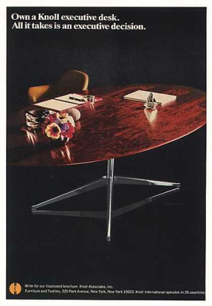 Knoll Furniture Executive Desk Photo (1968)