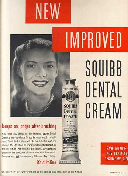 Squibb's Dental Cream (1948)