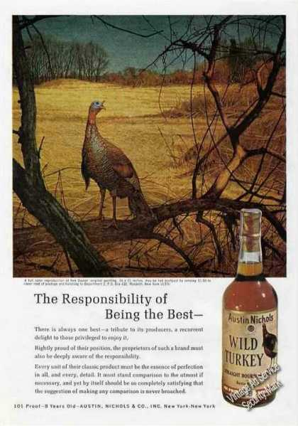 Wild Turkey Ken Davies Art Nice (1971)
