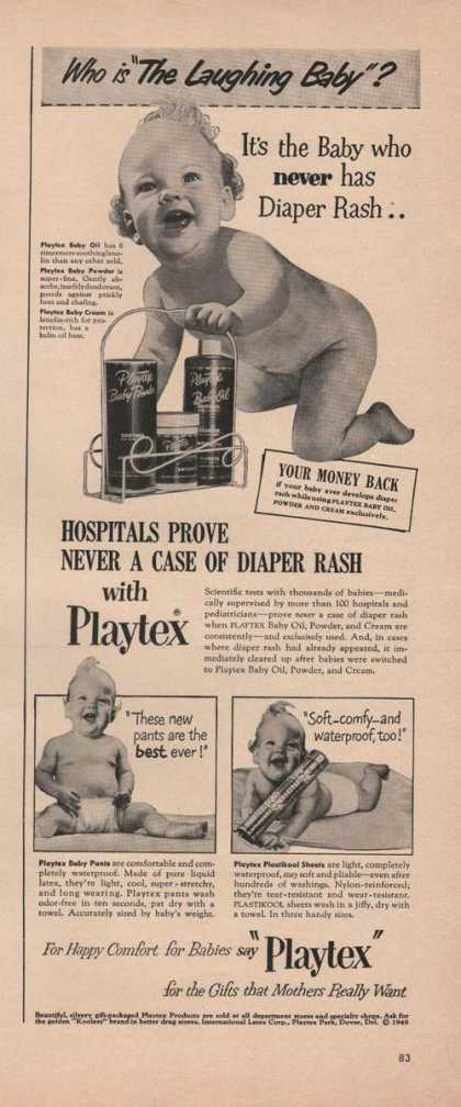 Playtex Baby Oil Powder and Cream (1949)