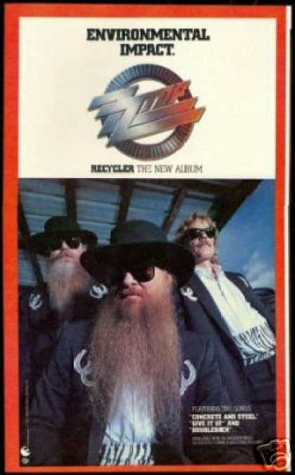 ZZ Top Photo Print Recycler Vintage Album Promo (1990)