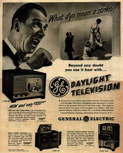 General Electric Company's Television – What d'ya mean a strike (1948)