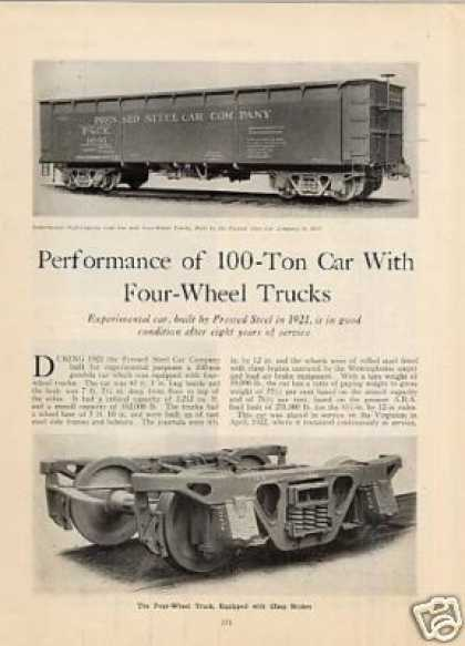 """Performance of 100ton Car With Four-wheel Trucks"" (1930)"