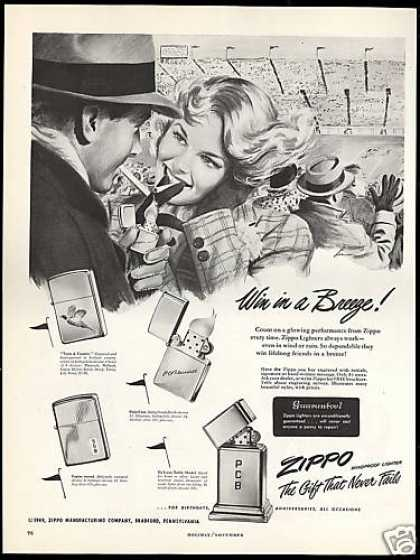 Zippo Cigarette Lighter Football Stadium Breeze (1949)