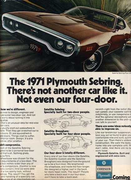 Chrysler's Plymouth (1970)