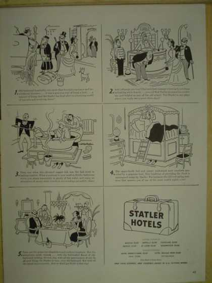 Statler Hotels. Cleveland Buffalo Boston New York Pittsburgh (1946)