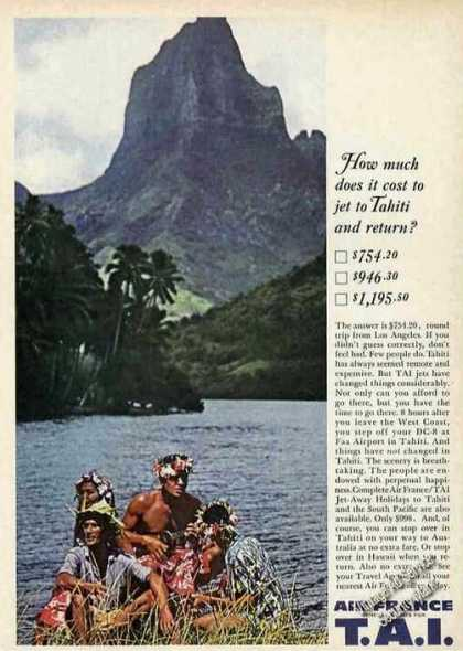 Air France/tai Jet-away Holidays To Tahiti (1961)