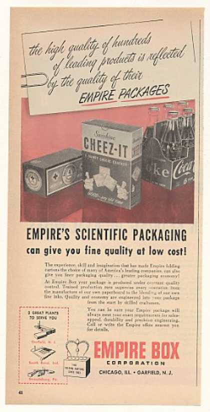 Cheez-It Crackers Coca-Cola Carton Empire Box (1952)