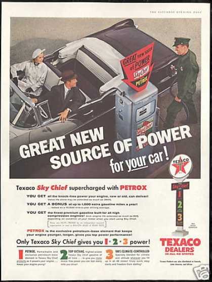 Texaco Gas Station Attendant Convertible Car (1956)