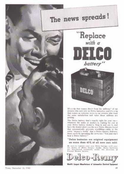 Delco-Remy Delco Battery – The News Spreads... (1940)