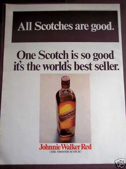 Scotch Advertisement Johnnie Walker Red (1968)