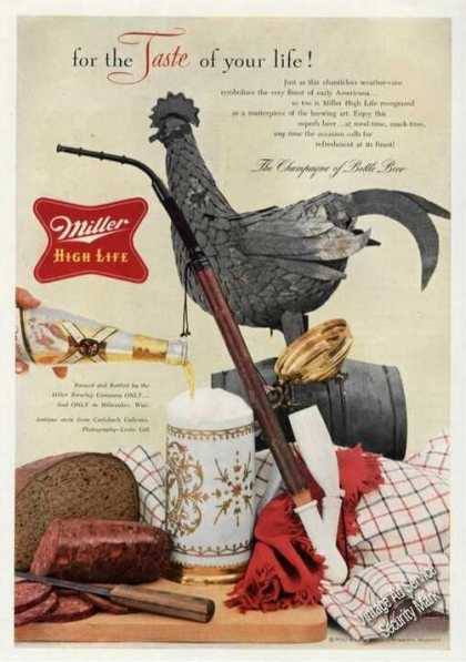 Miller High Life for the Taste of Your Life (1955)