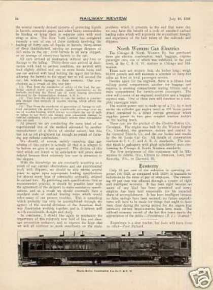 """North Western Gas Electrics"" Article/c&nw (1926)"
