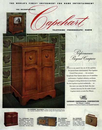 Capehart-Farnsworth Corporation's Television-Radio-Phonograph – The World's Finest Instrument For Home Entertainment (1952)