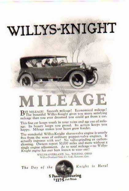Willy Knight Car – 5 Passenger Touring (1924)