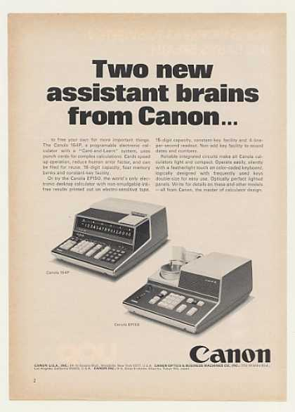 Canon Canola 164P EP150 Calculators (1970)