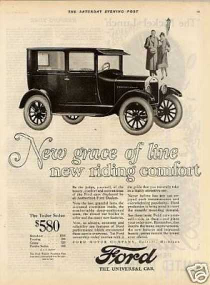 "Ford Tudor Sedan Ad ""New Grace of Line... (1926)"