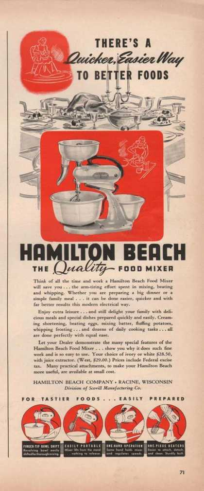 Hamilton Beach Quality Food Mixer (1941)