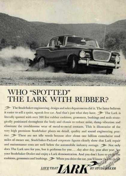 "Lark By Studebaker Who ""Spotted"" With Rubber (1960)"