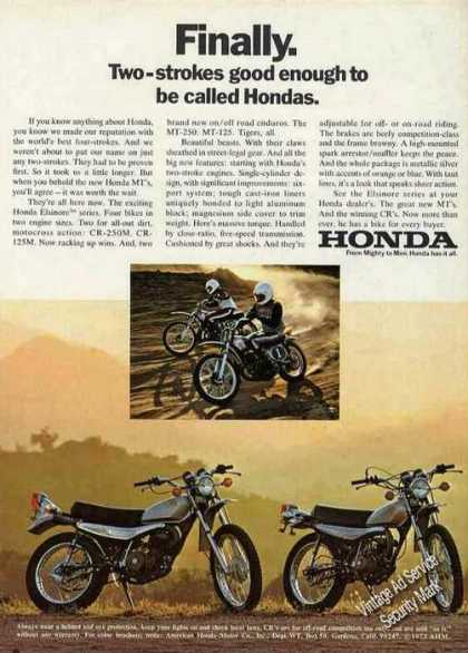 Two-strokes Good Enough To Be Called Hondas (1973)