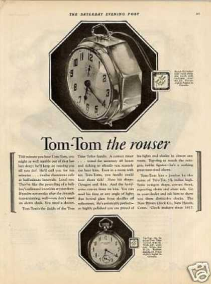 New Haven Alarm Clock Ad Tom-tom (1925)