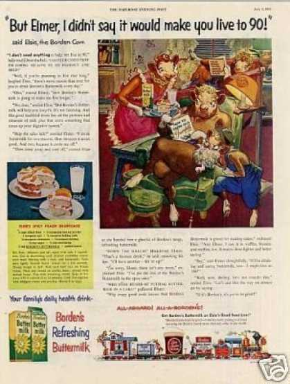 "Borden's Ad ""But Elmer I Didn't Say... (1954)"