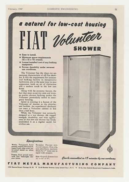 Fiat Metal Volunteer Shower (1947)