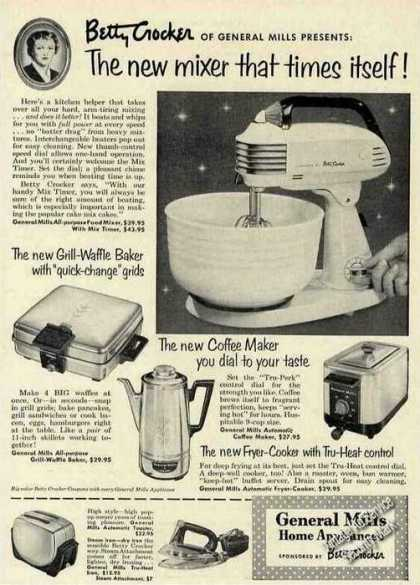 Betty Crocker General Mills Small Appliances (1953)