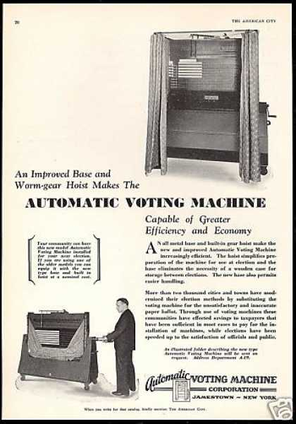 Automatic Voting Machine Corp Elections (1930)