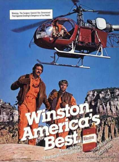 Winston Cigarette Advertising Helicopter (1985)