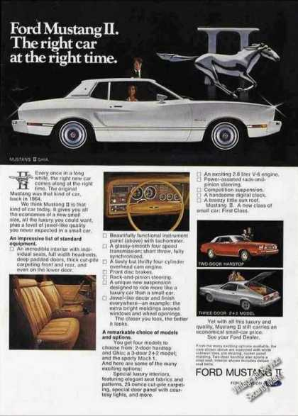 "Ford Mustang Ii ""Right Car at the Right Time"" (1974)"