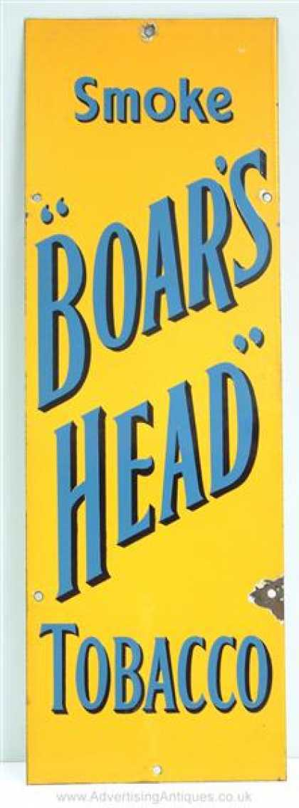 Boar's Head Tobacco Sign
