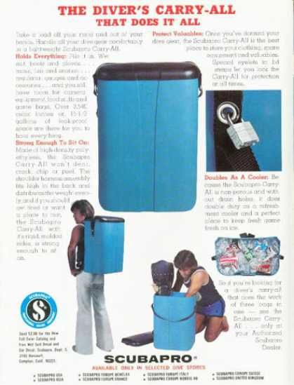 '76 Scubapro Equpiment Carrying Case T (1976)