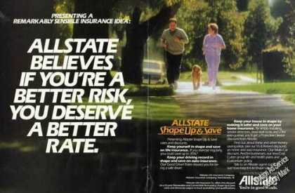 Allstate Shape Up & Save Advertising (1984)