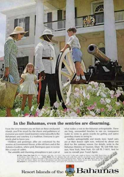 Rawson Square Nassau Child On Cannon Bahamas (1965)