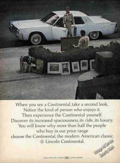"Lincoln Continental ""Notice the Kind of Person"" (1964)"