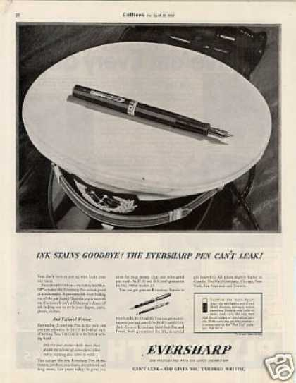 "Eversharp Fountain Pen Ad ""Ink Stains... (1936)"