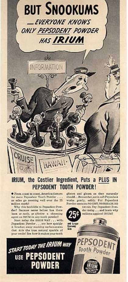 Pepsodent's Tooth Powder (1939)