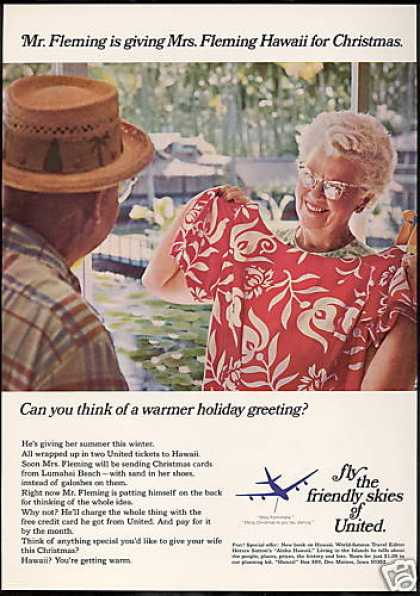 United Airlines Hawaii for (1967)