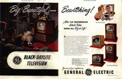 General Electric Company's Black-Daylite Television – Big, Beautiful and Bewitching (1950)