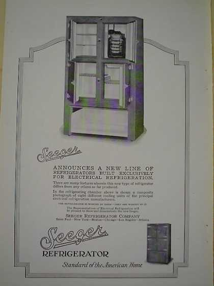 Seeger Refrigerator AND Burroughs Business Machines (1926)