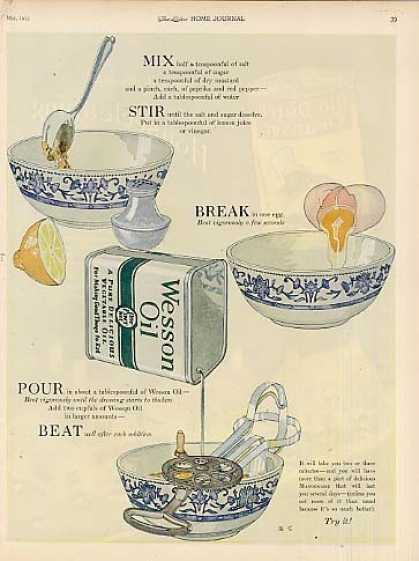 Wesson Oil Color (1923)