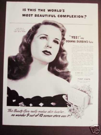 Movie Star Deanna Durbin Lux Beauty Soap (1945)